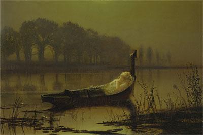 John Atkinson Grimshaw November moonlight Giclee Canvas Print